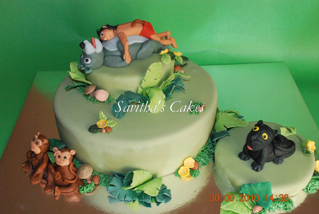 Jungle Book theme cake My son s 10th b day... Flickr