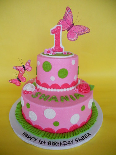 Butterfly Cakes For First Birthday
