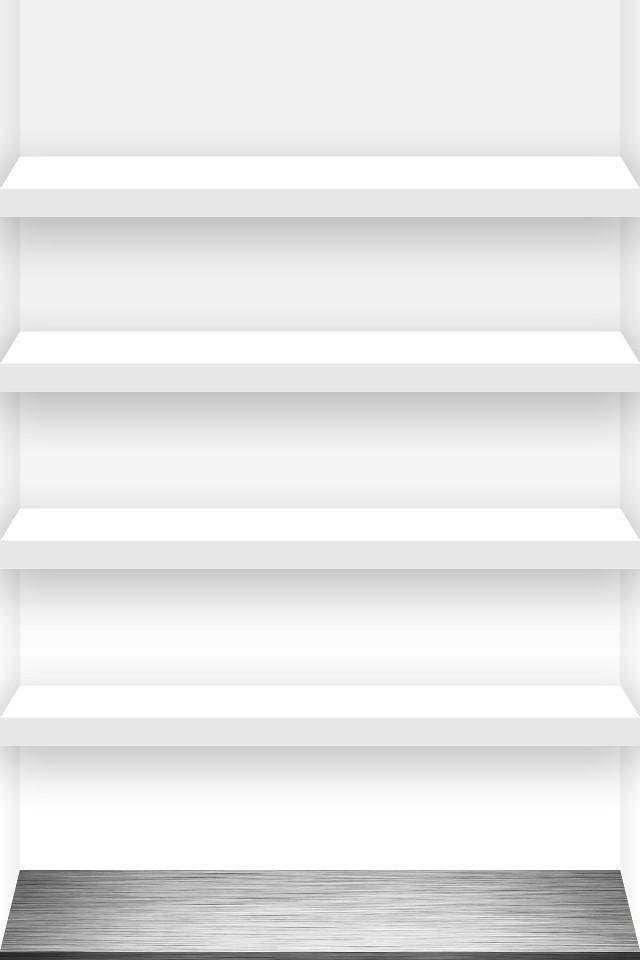 4-shelf iphone wallpaper white   click a link for the full ...