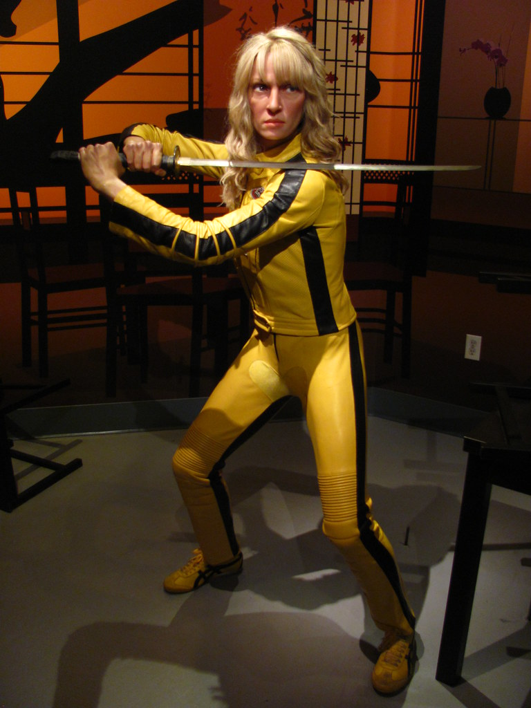 Uma Thurman/Beatrix Kiddo figure at Madame Tussauds Hollyw… | Flickr Uma Thurman