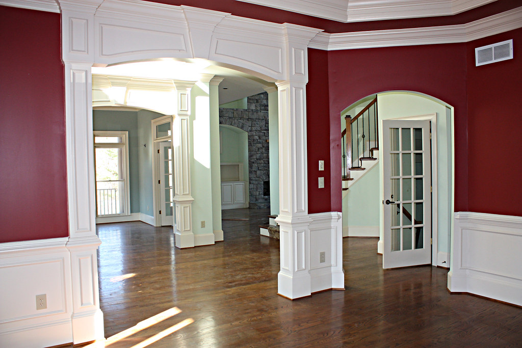 Foyer Room Jobs : Dining room into foyer sitting living stairs