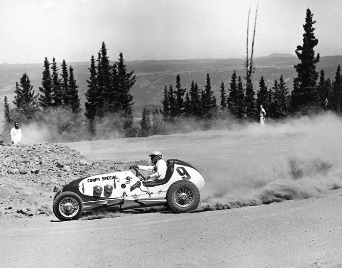 Jerry Unser Jr Taking The Turn At The Pikes Peak Hill Cli