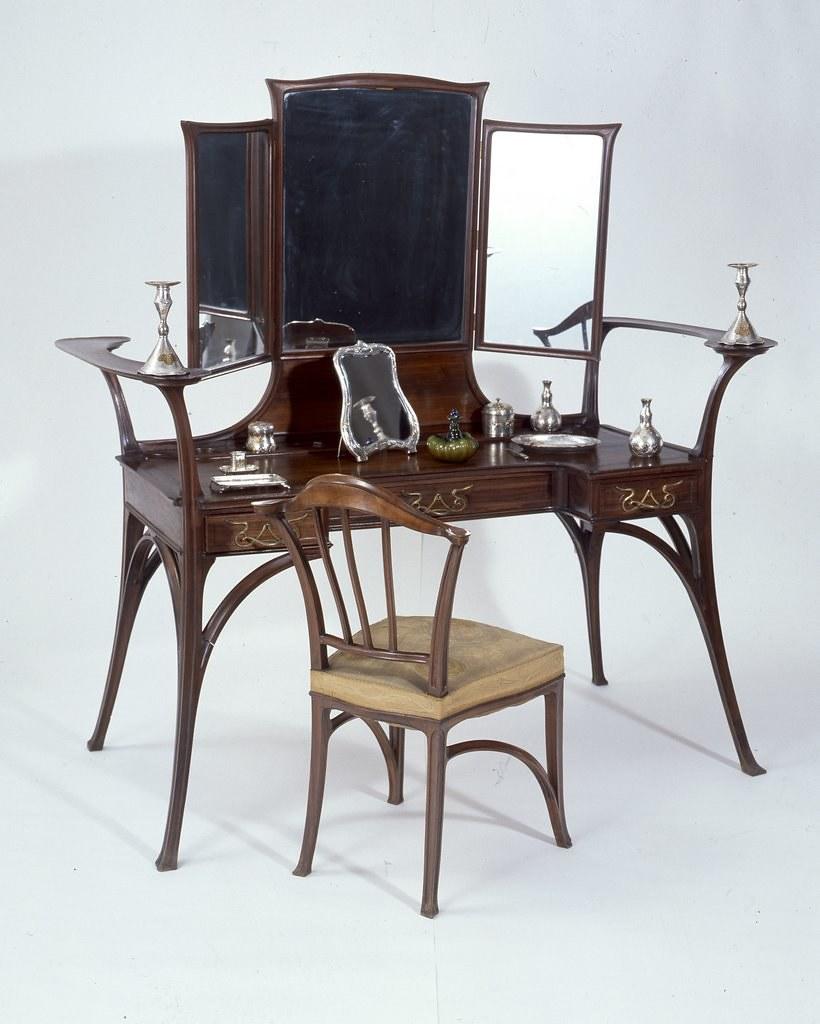 Art Nouveau Dressing Table And Chair Art Nouveau