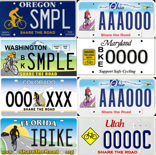 "License Plate Camera >> Share the Road license plates | A sampler of ""Share the ..."
