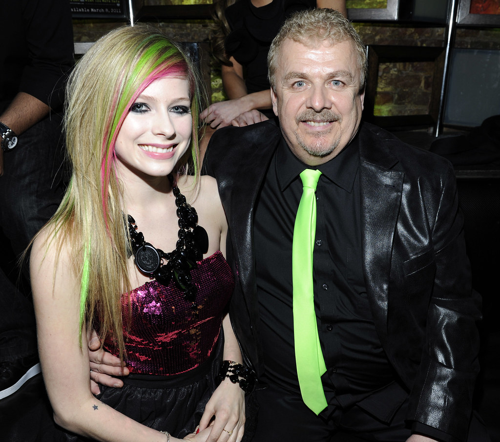 Photo of Avril Lavigne & her Father  Jean-Claude Joseph Lavigne
