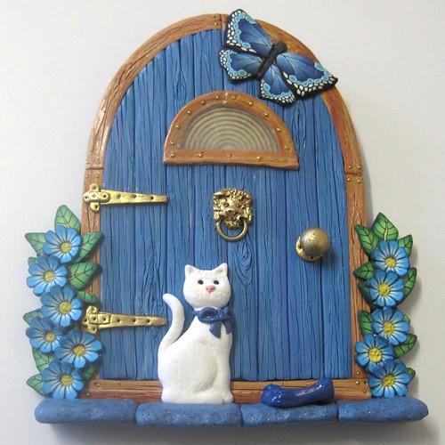 Blue ariana fairy door sold patsparaphernalia flickr for White fairy door