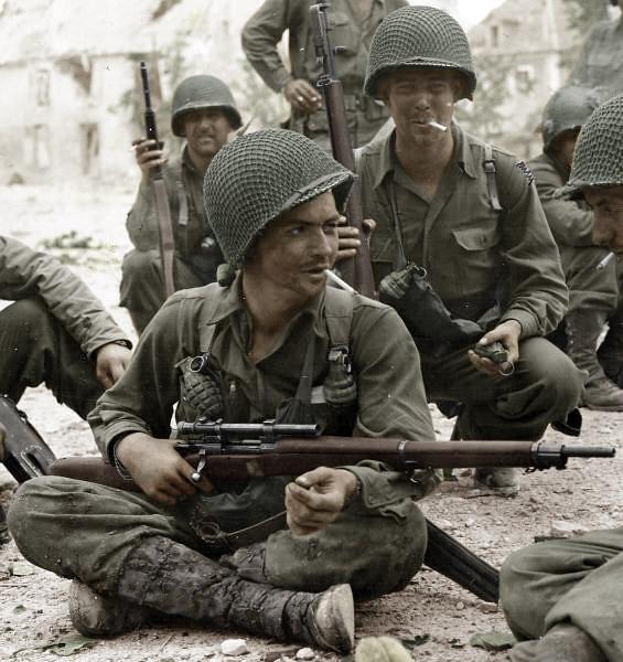 U.S. Army Sniper - France 1944 WW2 - 1903A4 rifle | Za ...