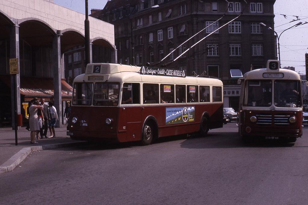 jhm 1966 0452 mulhouse trolleybus somua bus floirat flickr. Black Bedroom Furniture Sets. Home Design Ideas