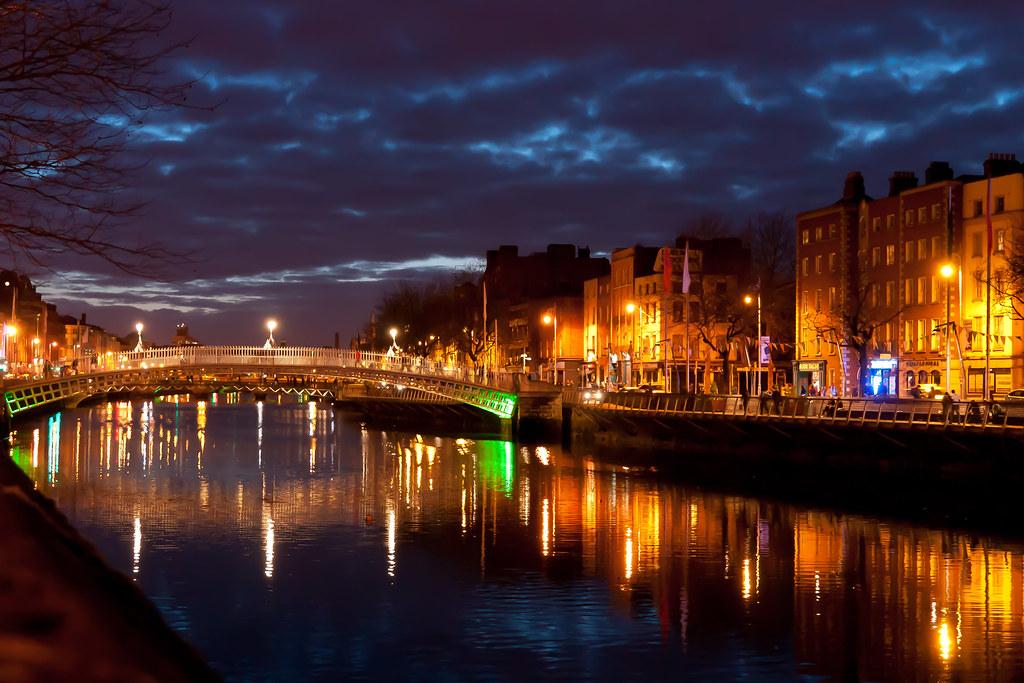 Dublin Night Lights Dublin at Night Ha'penny