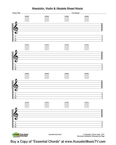 Essential Chords, Mandolin and Ukulele Blank Sheet Music : Flickr - Photo Sharing!