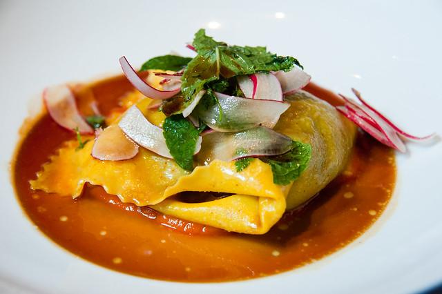 Saffron Fazzoletti | Braised rabbit, lentils, carrots. At Sp… | By ...