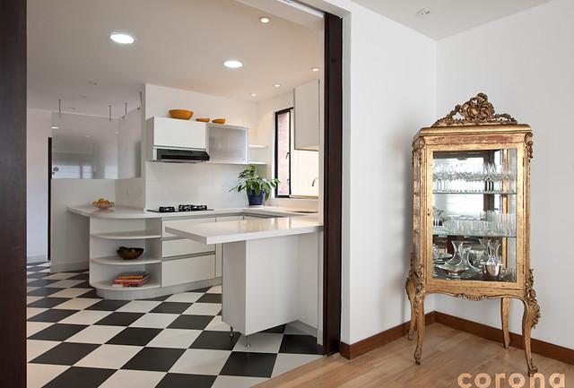 Cocina en blanco y negro 1 flickr photo sharing - Cocinas en blanco y negro ...