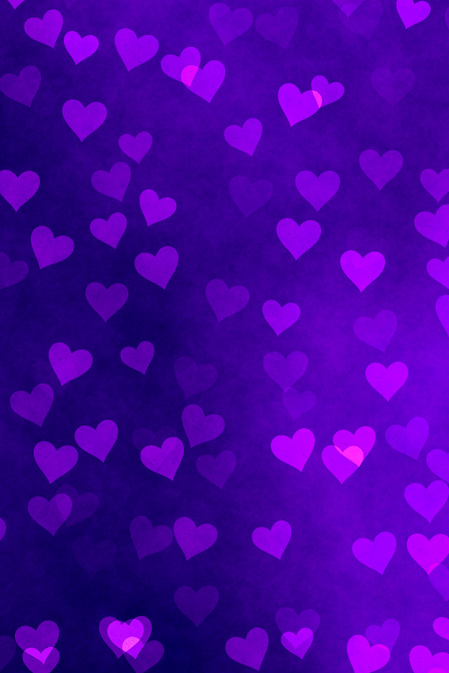 iPhone Background - Purple Hearts | Flickr - Photo Sharing!