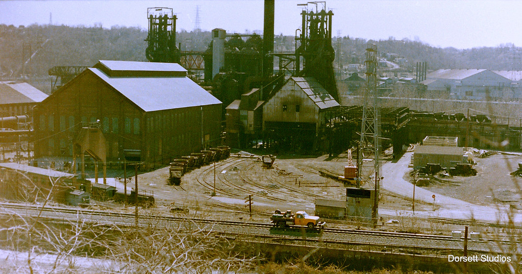 Number 7 Blast Furnace : Crusing on the track alongside cast house of number