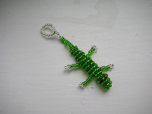 seed bead lizard explore what i saw s photos on