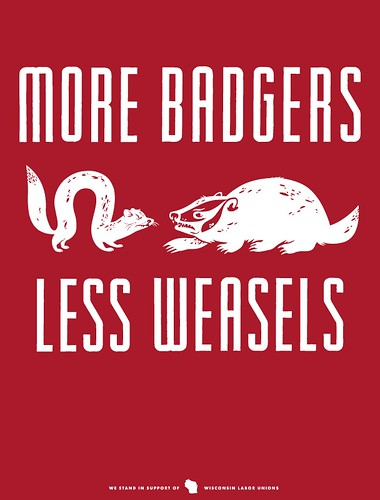 MORE BADGERS, LESS WEASELS | by Little Friends of Printmaking