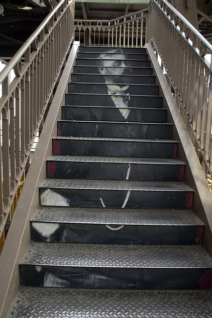 Eiffel Tower Stairs : Treat for walking up the stairs of eiffel tower