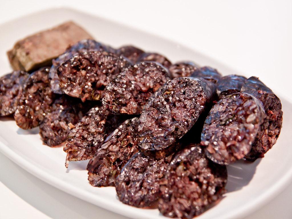 Soondae (blood sausage) | from Boon Sik Zip | Nicholas ...