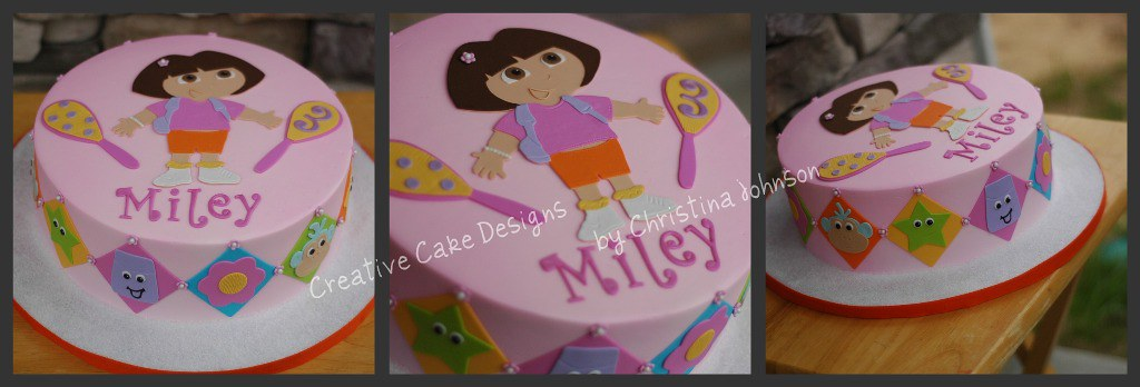 Dora Cake Recipe In English: Dora Buttercream Birthday Cake