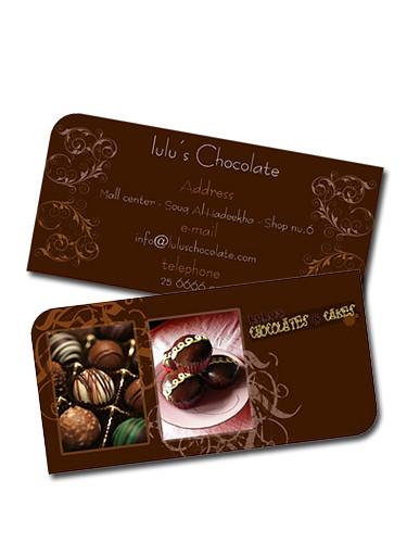 LuLu Chocolate - Business card | مشروع تخرج طلبة الكلية ...