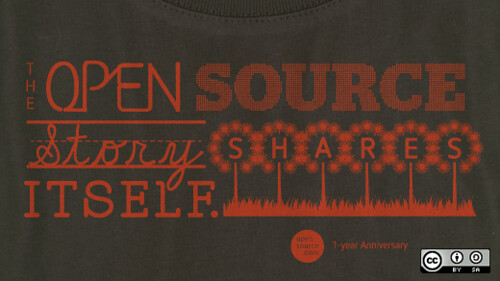 Limited edition opensource.com anniversary t-shirt | by opensourceway