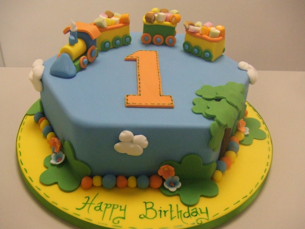 Birthday Cake Pic For A Boy : CAKE - Boys 1st birthday display cake by Jules Jules ...