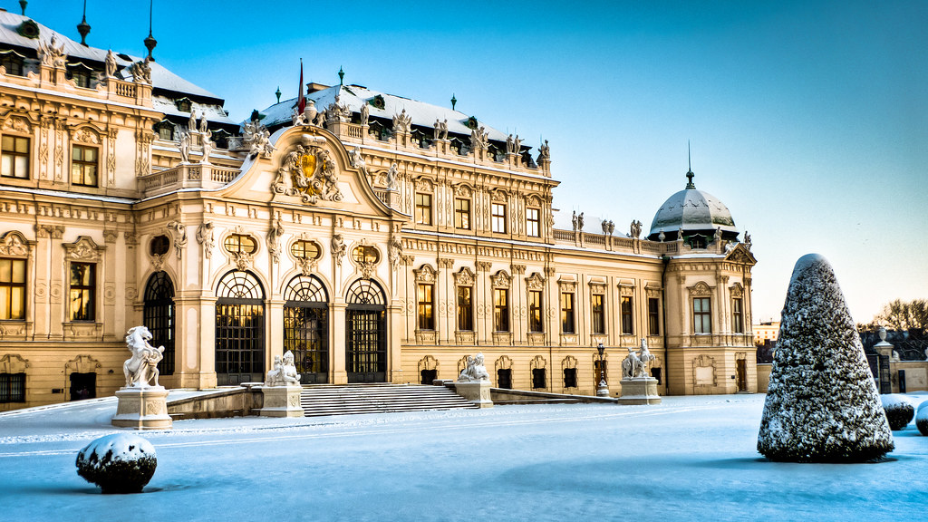 The magnificent Belvedere is even more captivating in the winter