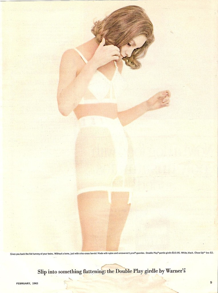 1963 Warner Girdle Ad  Sorry For The Big Old Stain At The -3904