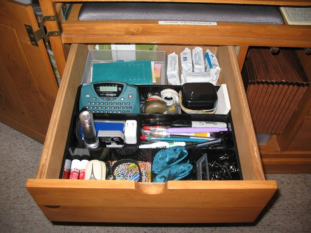 My Organized Desk Drawer The Organized Utility Drawer