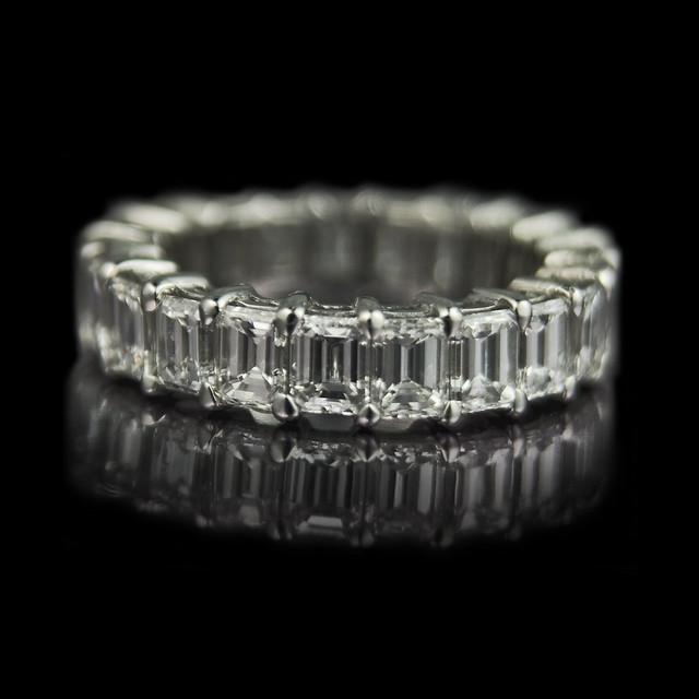 emerald cut eternity ring flickr photo