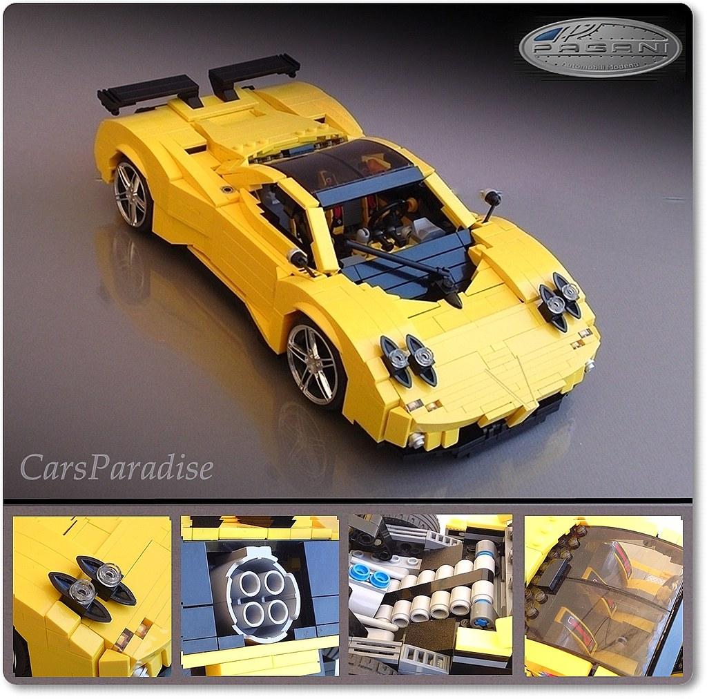 "Lego Lamborghini Egoista: Here She Is; The Beautiful Lady ""Zonda"" In"