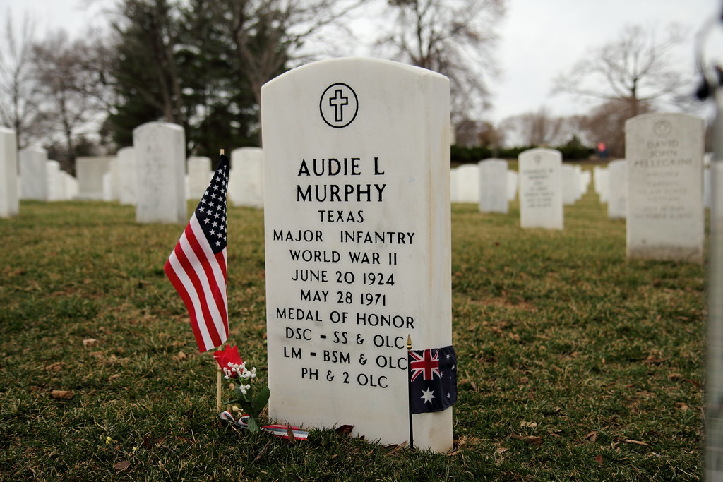 Audie Murphy Gravesite Burial Site In Arlington National