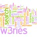 word cloud: qw3ries, search, market, non-profits, sites, ...