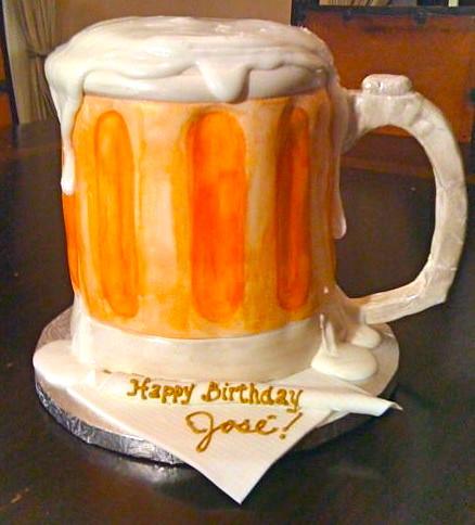 Beer Mug Cake www.cakesbygaby.com Gaby Triana Flickr