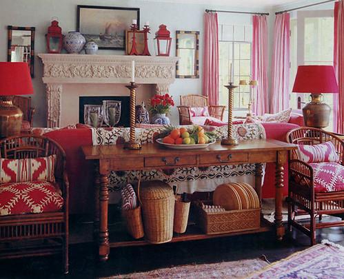 Mary Mcdonald Red Living Room Flickr Photo Sharing