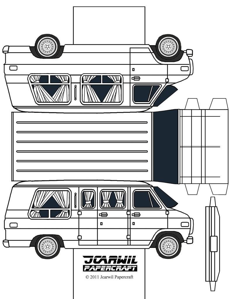 how to make a paper van