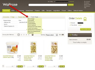 Category selection on Waitrose site | by smorgasbord-design