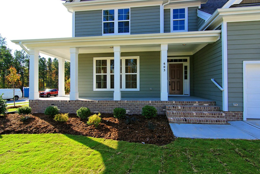 Front Elevation Porch : Fairfield front porch brevard elevation a wrap