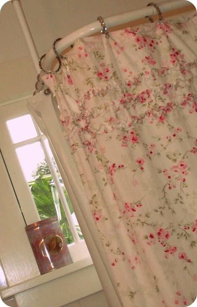 Shabby shower curtain
