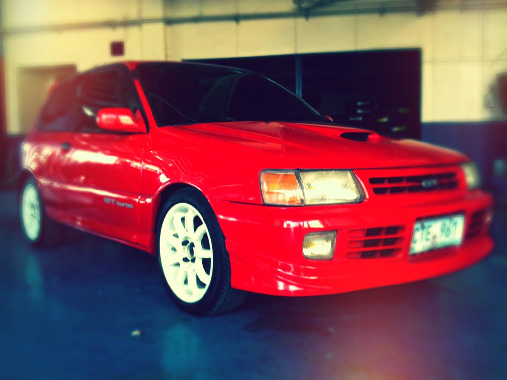 Toyta Starlet Gt Turbo Finally Got Myself A Red Hot