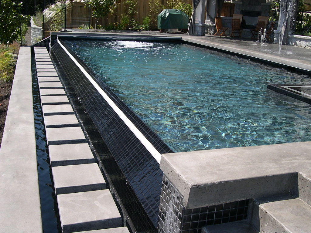 Infinity Edge Pool With Coverstar Automatic And Spa C