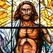 Resurrection Stained Glass: Detail of Jesus, Co-Cathedral of the Sacred Heart