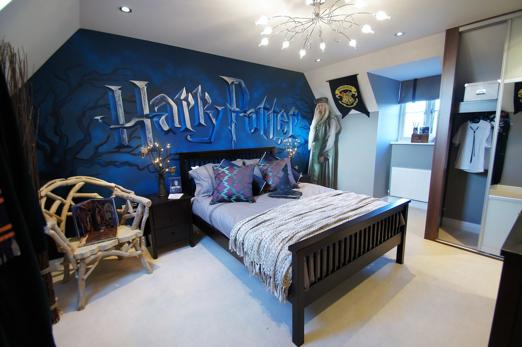 Harry Potter Childrens Mural Room | Hand Painted Mural In Chu2026 | Flickr