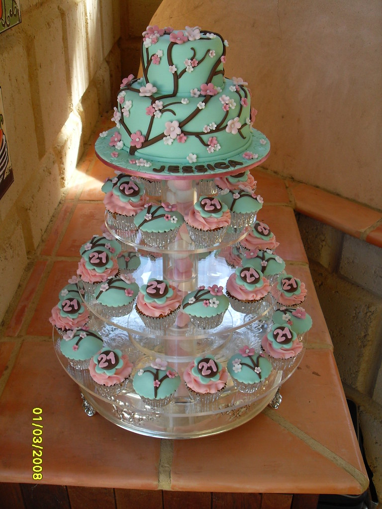 Blossom Cake Amp Cupcakes On New Stand Design Hello All