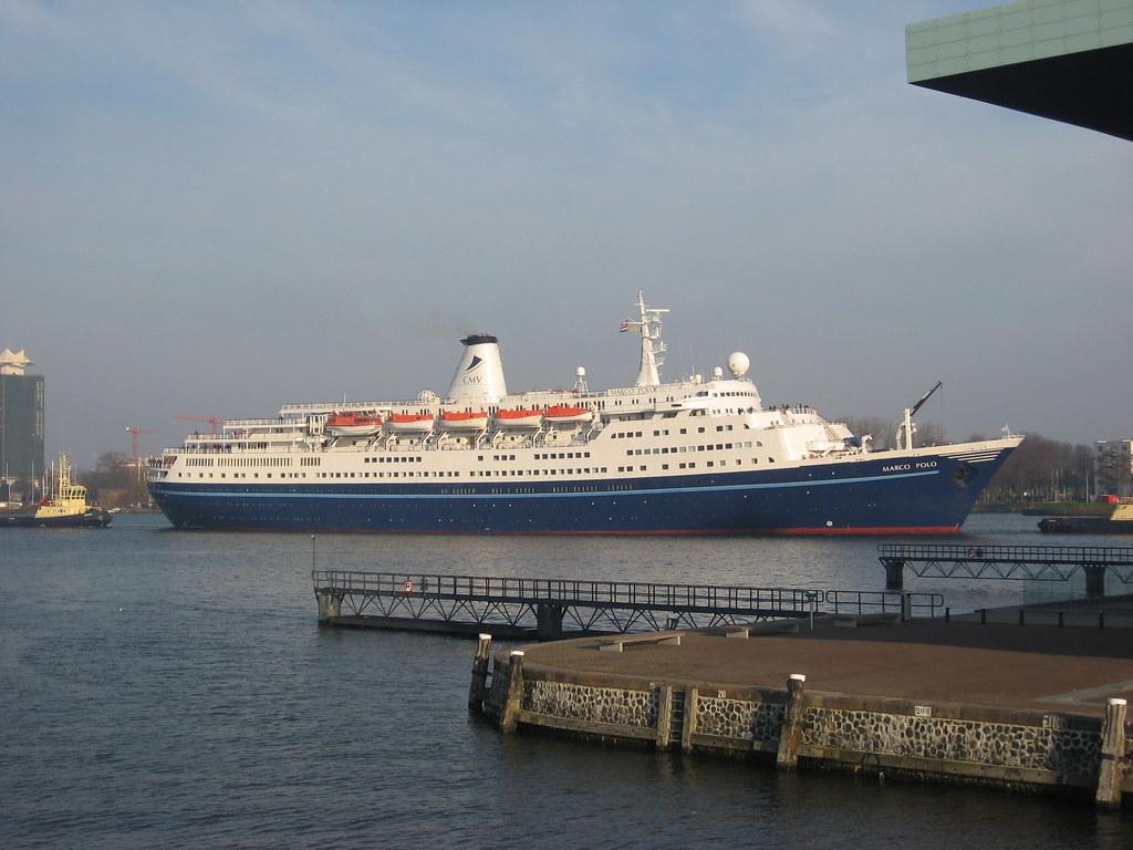 Amsterdam Marco Polo   Cruise ship Marco Polo arrives in ...