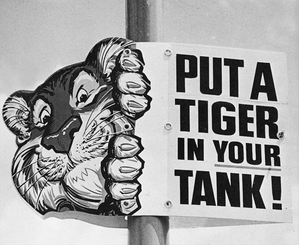 """Esso   """"Put a Tiger In Your Tank,"""" the advertising message ..."""
