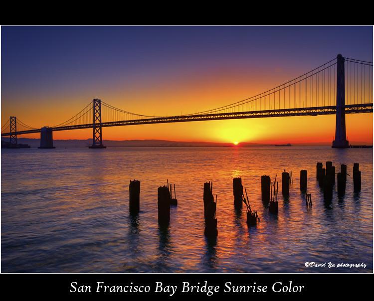 San Francisco Bay Bridge Sunrise Color | Good morning