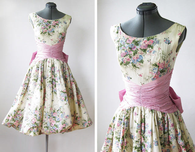 Vintage 50s spring garden party dress flickr photo sharing for What to wear to a garden party