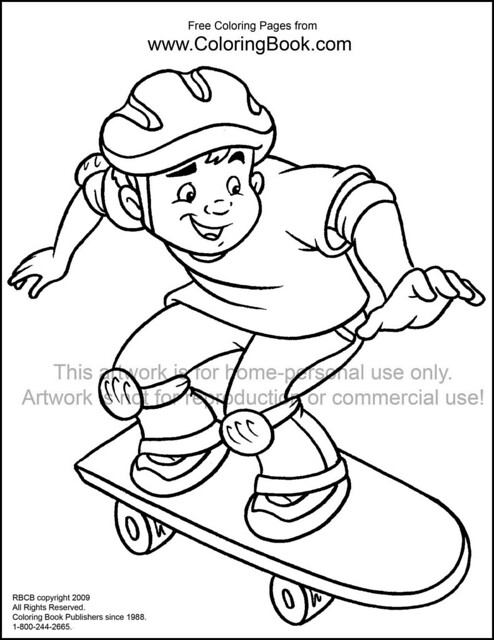 Skateboard printable coloring pages for Skateboard coloring page
