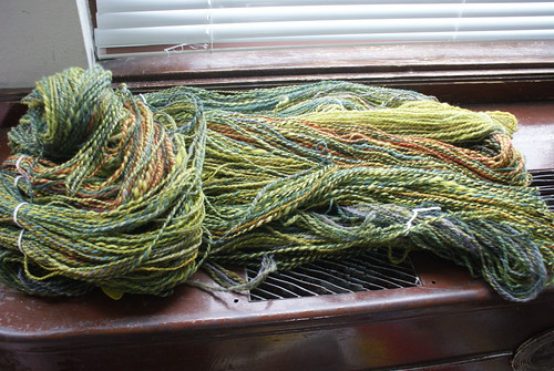January's pound of fiber: spun! | by QueenieVonSugarpants